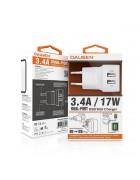 Dausen RG523 Dual USB port Wall charger kit 3.4A/17W