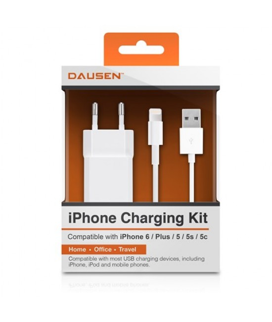 Wall charger with lightning cable
